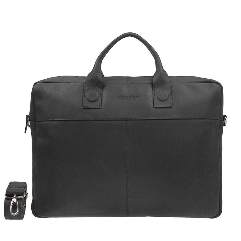 DSTRCT Fletcher Street 17'' Business Bag Black-0