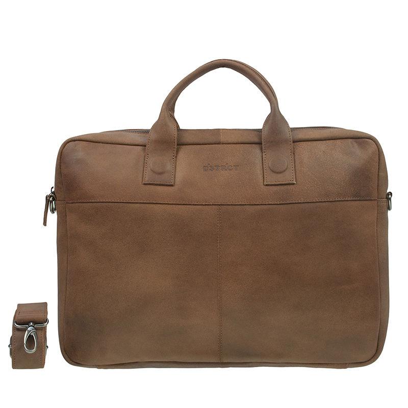 DSTRCT Fletcher Street 17'' Business Bag Cognac-0