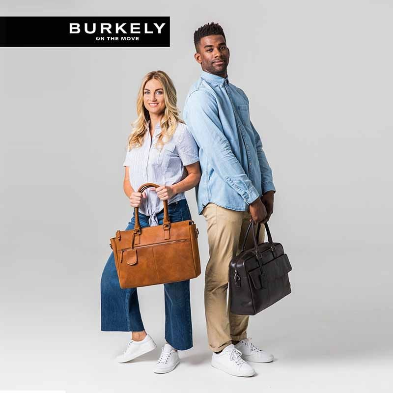 Burkely On The Move Zipper Laptoptas Brown-112092