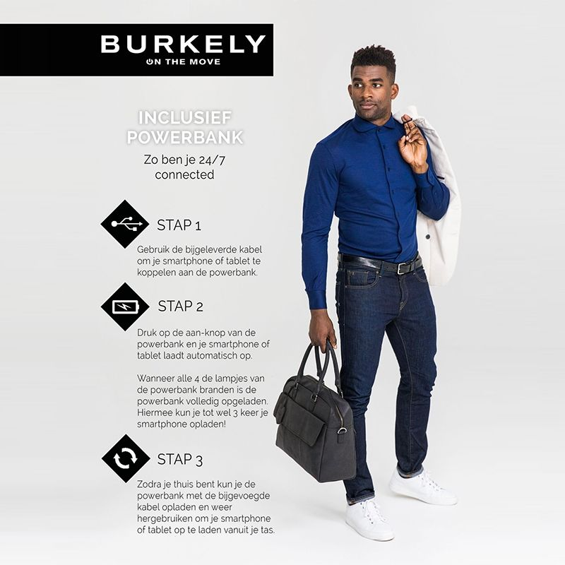 Burkely On The Move Flap Laptoptas Black-111685