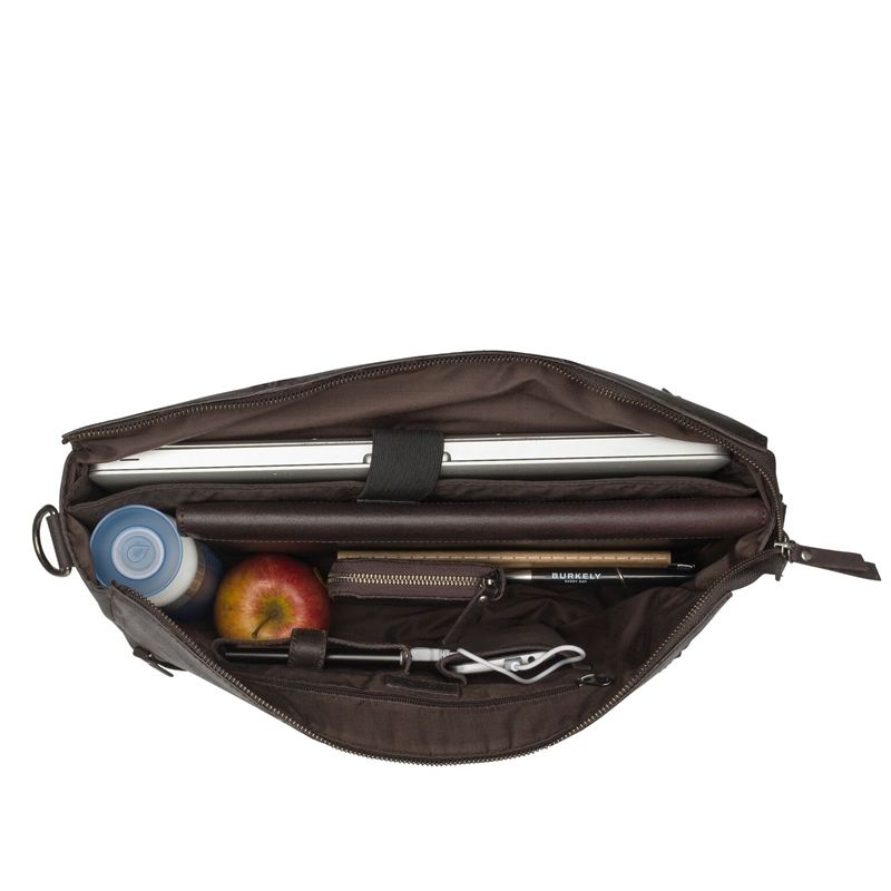 Burkely On The Move Zipper Laptoptas Brown-112098
