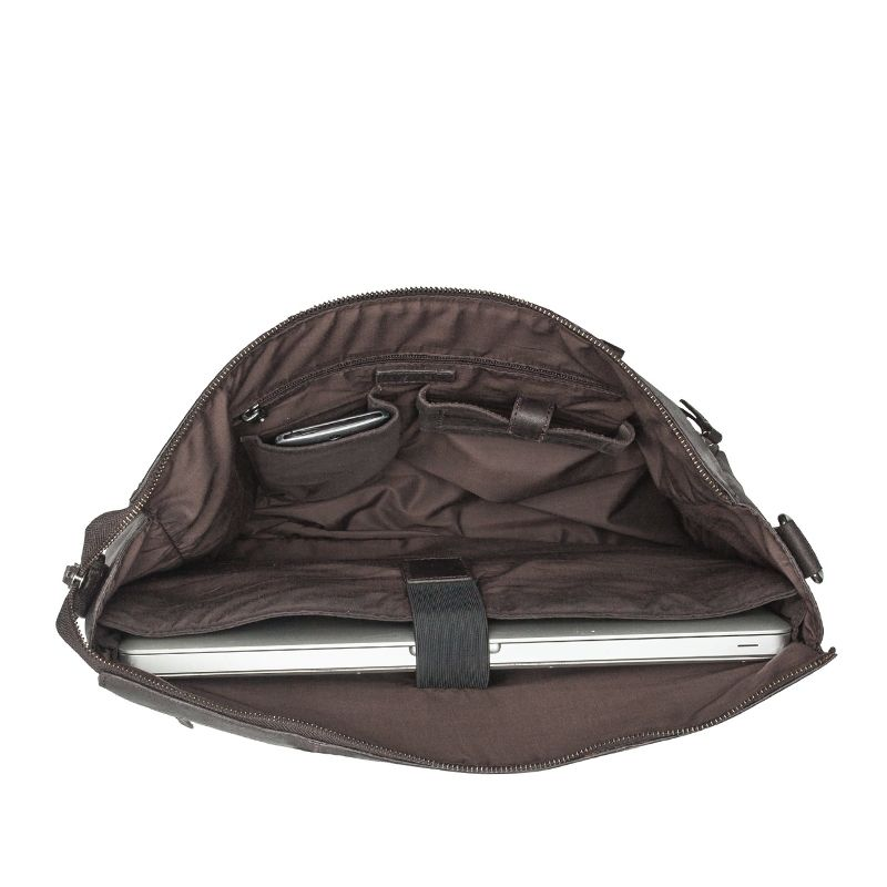 Burkely On The Move Zipper Laptoptas Brown-112097
