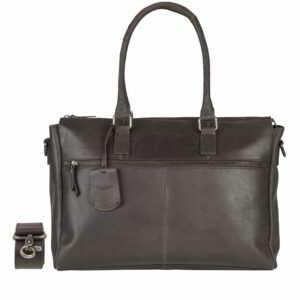 Burkely On The Move Zipper Laptoptas Brown-0