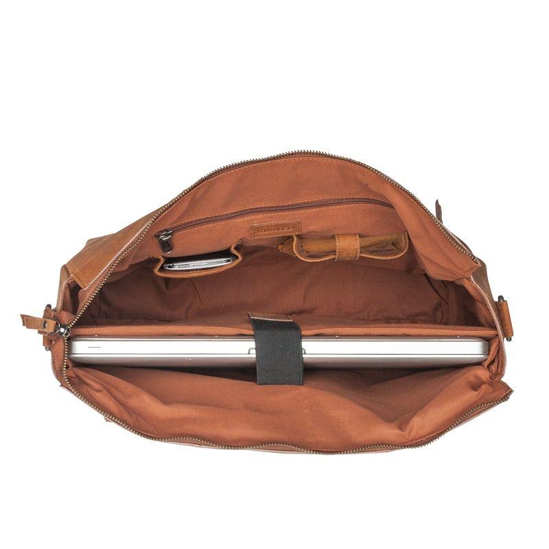 Burkely On The Move Zipper Laptoptas Cognac-112083