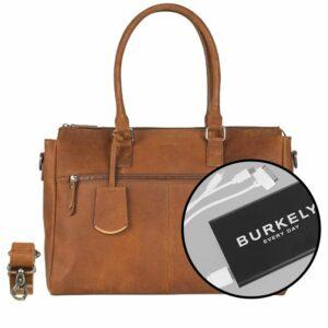 Burkely On The Move Zipper Laptoptas Cognac-0