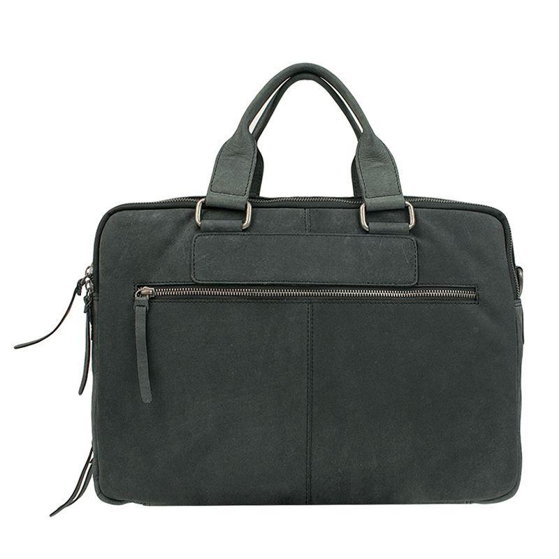 DSTRCT Wall Street Double Zipper 15'' Laptop Bag Black-120506