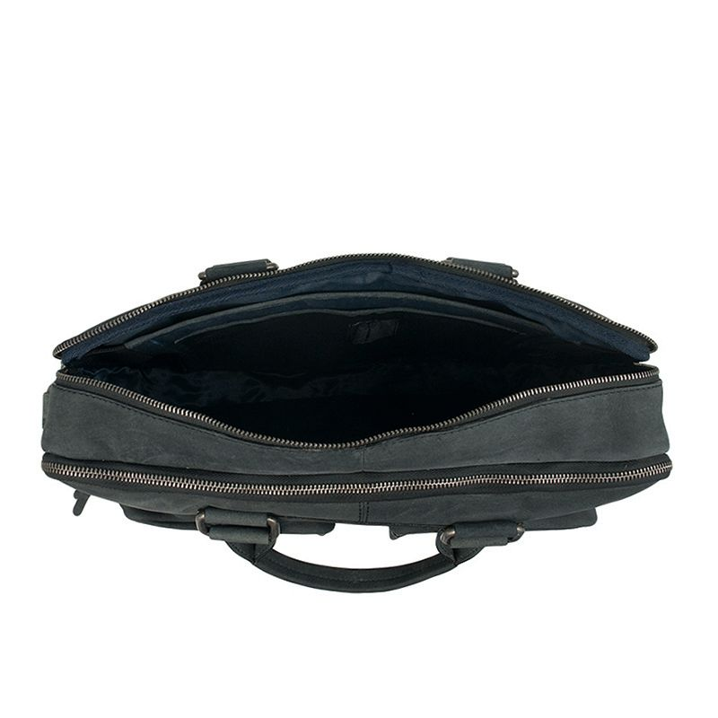 DSTRCT Wall Street Double Zipper 15'' Laptop Bag Black-120510