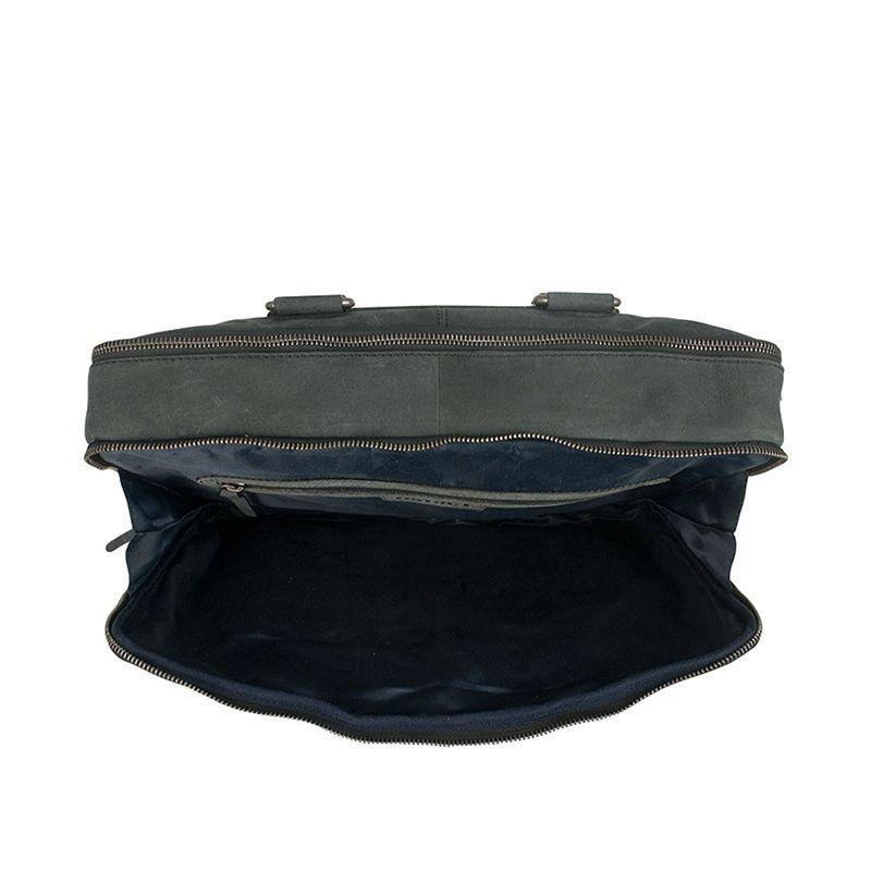 DSTRCT Wall Street Double Zipper 15'' Laptop Bag Black-120509