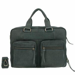DSTRCT Wall Street Double Zipper 15'' Laptop Bag Black-0