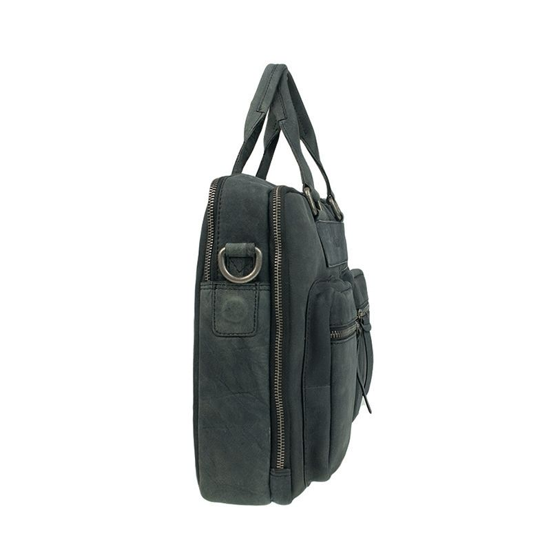 DSTRCT Wall Street Double Zipper 15'' Laptop Bag Black-120512