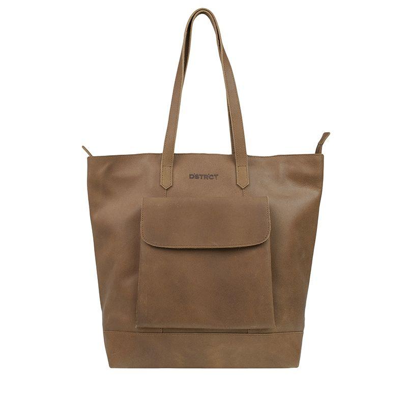 DSTRCT Riverside Shopper Front Pocket Brown-0
