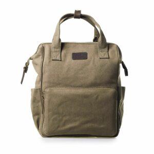 O My Bag Billie's Backpack Olive Dark Brown-0