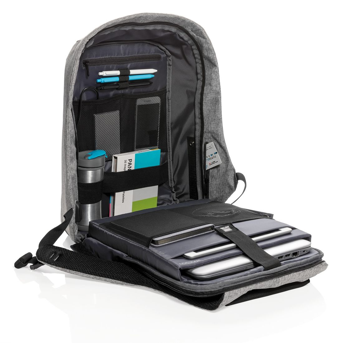 "XD Design Bobby XL Anti-theft Backpack 17"" Grey-138723"