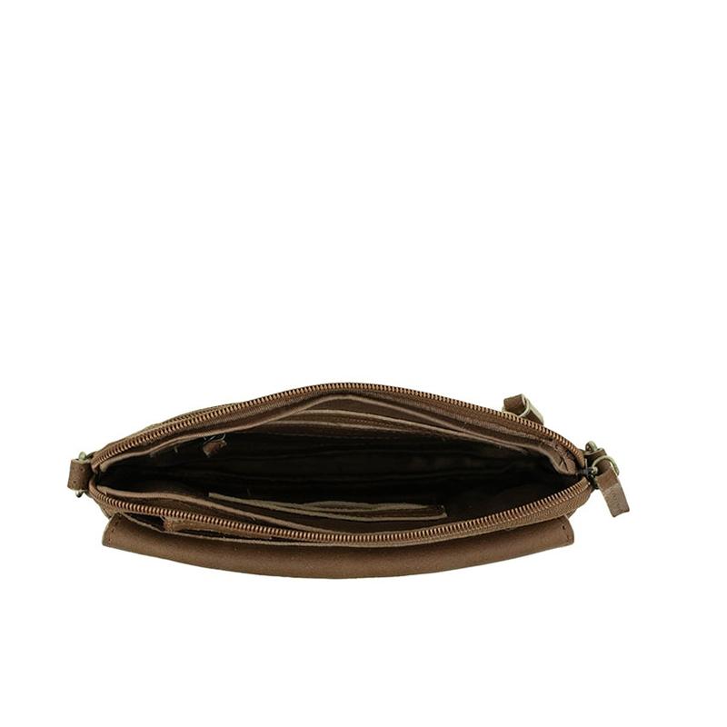 DSTRCT Riverside Clutch Flap Cognac-156508