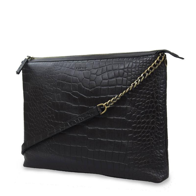 O My Bag Scarlet Eco Classic Black Croco-156110
