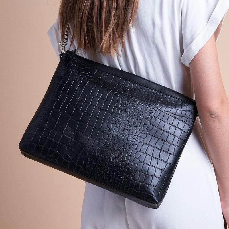 O My Bag Scarlet Eco Classic Black Croco-156109