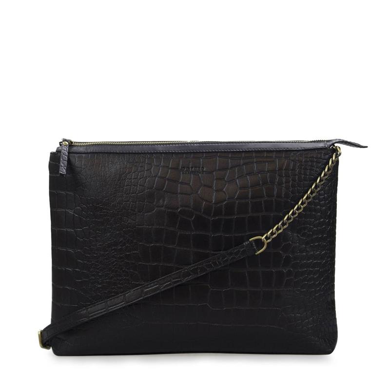 O My Bag Scarlet Eco Classic Black Croco-0