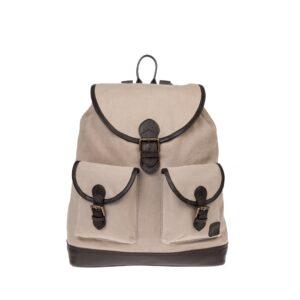 Monbeki Canvas Backpack Beige-0