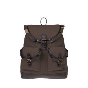 Monbeki Canvas Backpack Bruin / Camo Kleppen-0