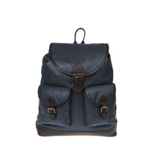 Monbeki Leer Backpack Blauw-0