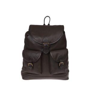 Monbeki Leer Backpack Bruin-0
