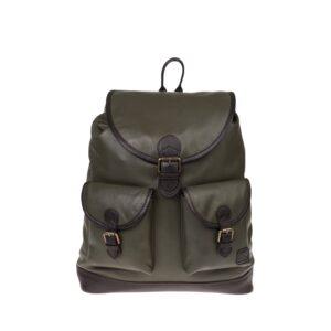 Monbeki Leer Backpack Groen