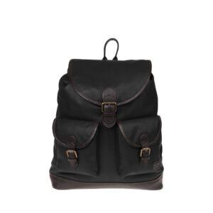 Monbeki Leer Backpack Zwart-0