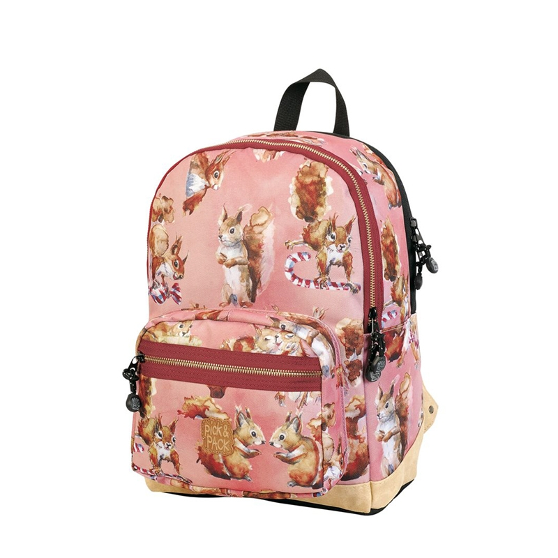 Pick & Pack Backpack Cute Squirrel Pink-0