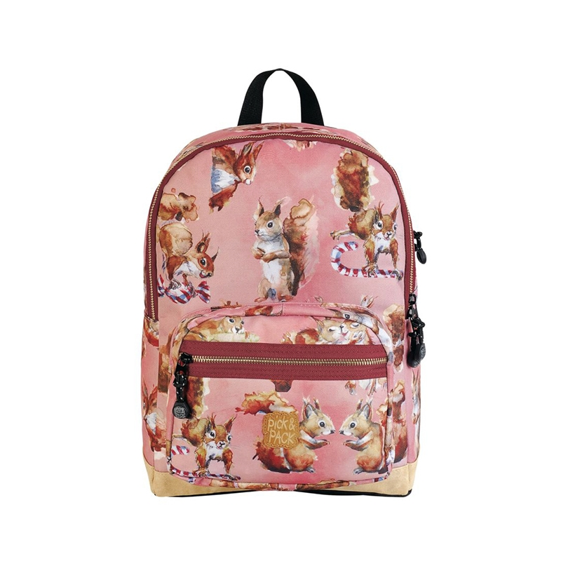 Pick & Pack Backpack Cute Squirrel Pink-157513