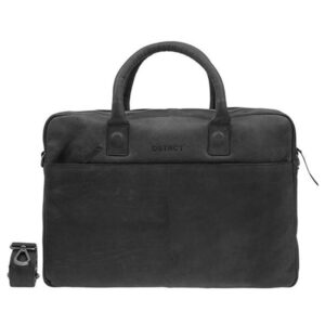 "DSTRCT Wall Street 17"" Business Laptop Bag Black"