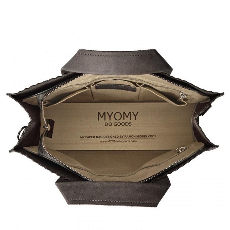 MYOMY My Paper Bag Handbag Cross-body Hunter Taupe-159790