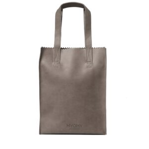 MYOMY My Paper Bag Long Handle Zip Hunter Taupe-0
