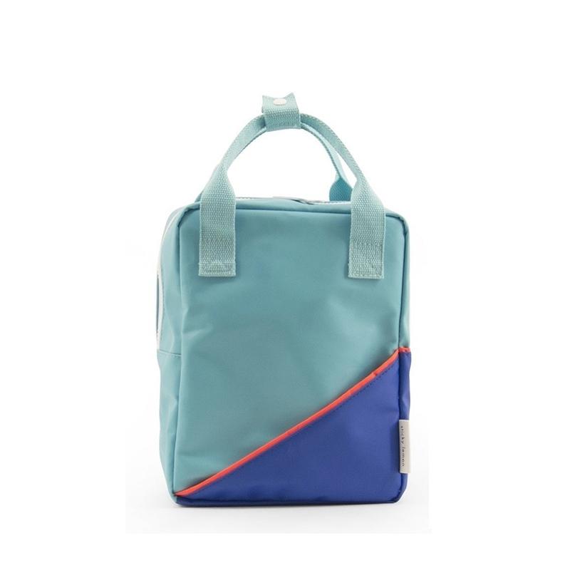 Sticky Lemon Backpack Diagonal Small Retro Mint / Ink Blue-0