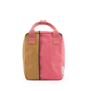 Sticky Lemon Backpack Vertical Small Fudge Caramel / Watermelon Pink-0