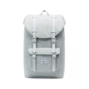 Herschel Little America Mid Volume Light Grey Crosshatch / Grey Rubber-0