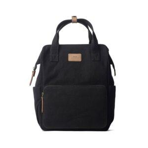 O My Bag Billie's Backpack Black Waxed Canvas-0