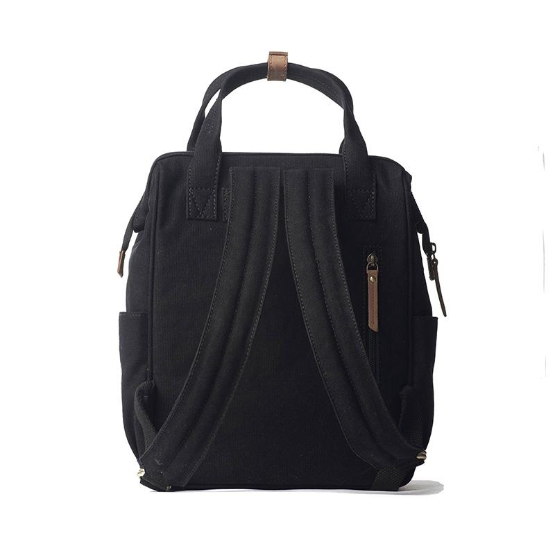 O My Bag Billie's Backpack Black Waxed Canvas-161797