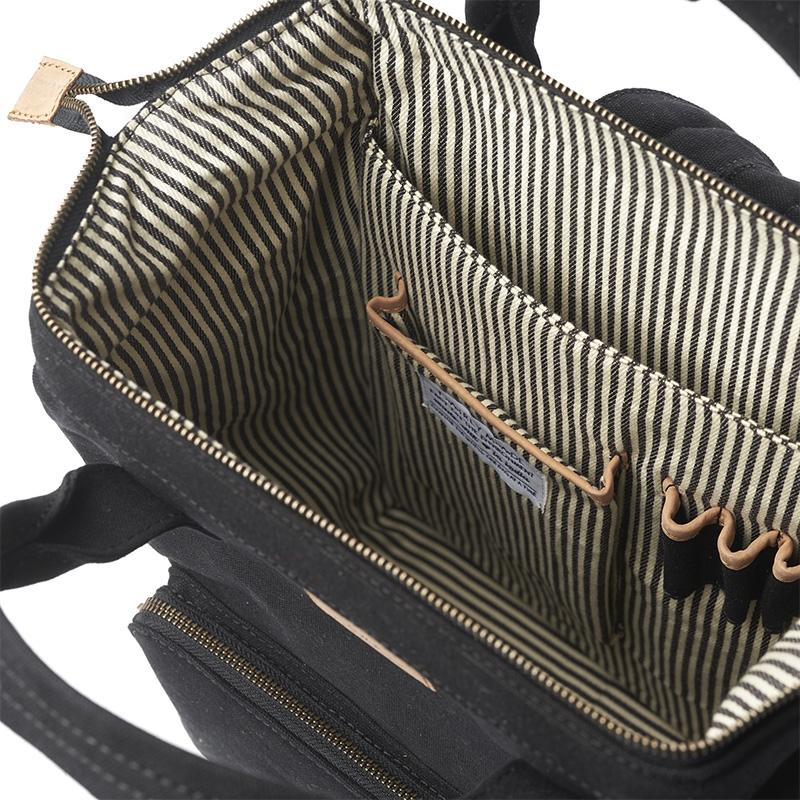O My Bag Billie's Backpack Black Waxed Canvas-161798