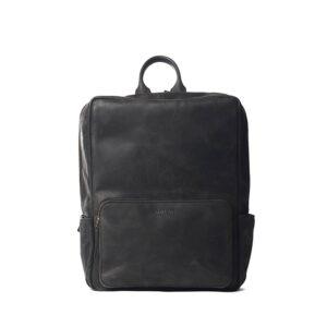 O My Bag John Backpack Midi Black-0