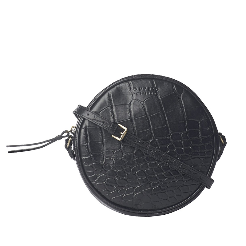 O My Bag Luna Bag Black Croco-0