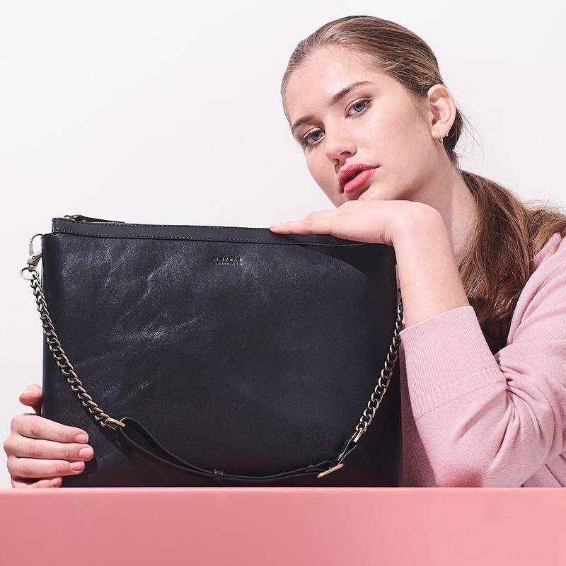 O My Bag Scarlet Eco Classic Black-161782