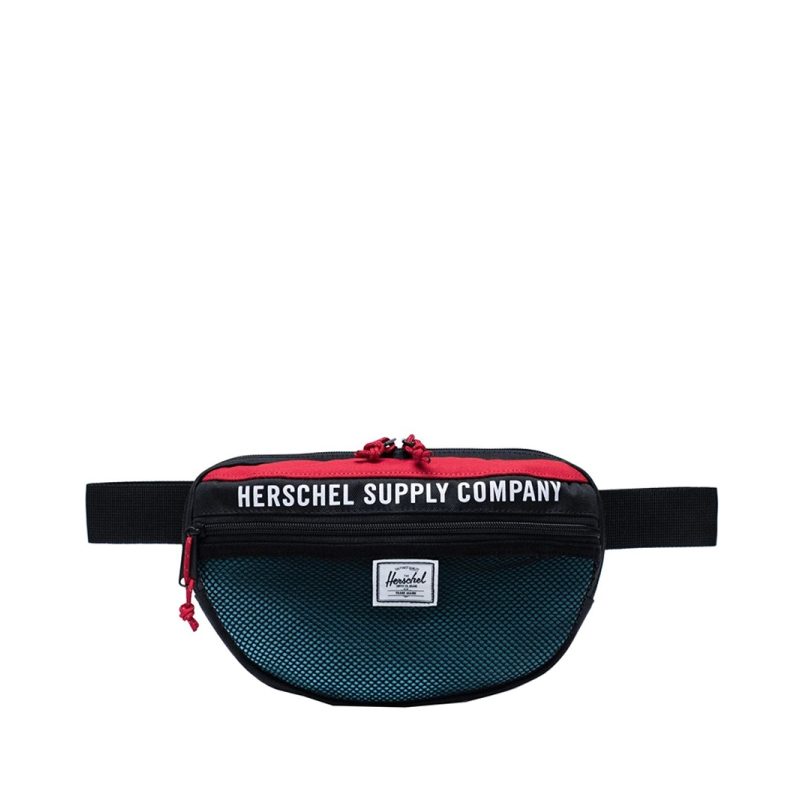 Herschel Nineteen Athletics Black/Red/Bachelor Button-0