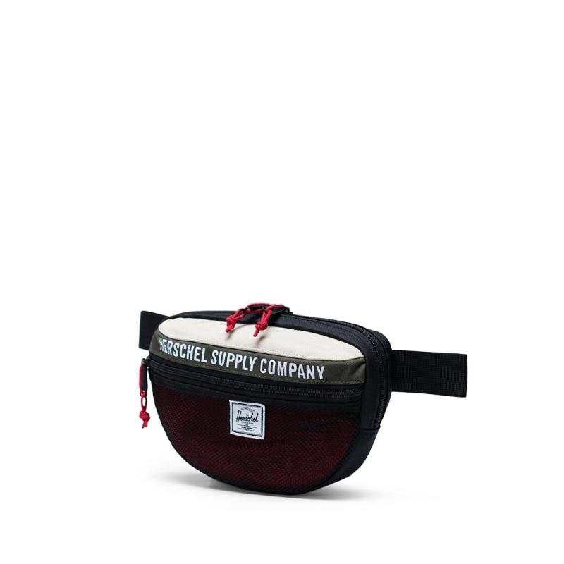 Herschel Nineteen Dark Olive/Overcast/Black/Red-166572