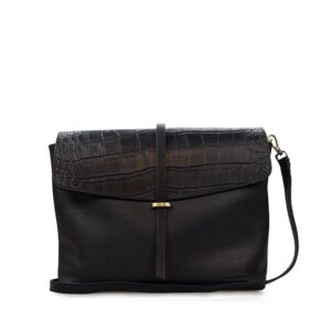 O My Bag Ella Black/Croco Soft Grain Leather