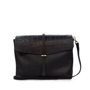 O My Bag Ella Black/Croco Soft Grain Leather-0