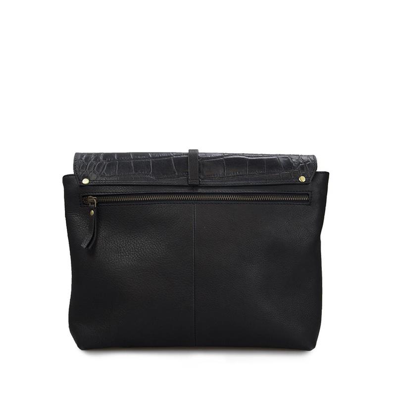 O My Bag Ella Black/Croco Soft Grain Leather-162932