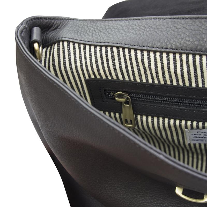O My Bag Ella Black/Croco Soft Grain Leather-162933