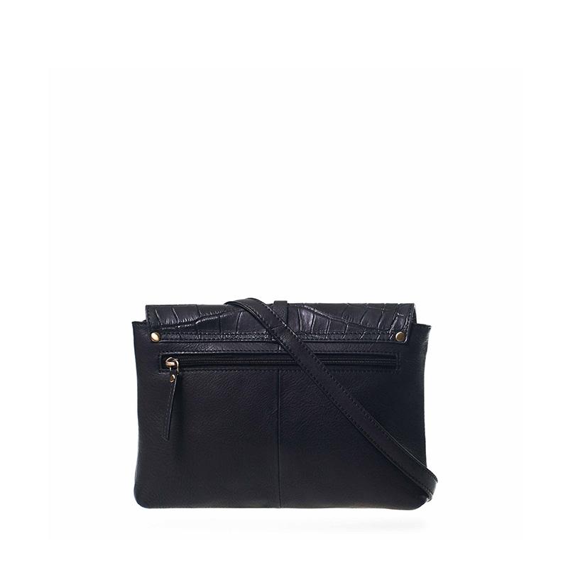 O My Bag Ella Midi Black/Croco Soft Grain Leather-162924