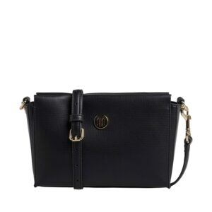 Tommy Hilfiger Effortless Saffiano Crossover Black