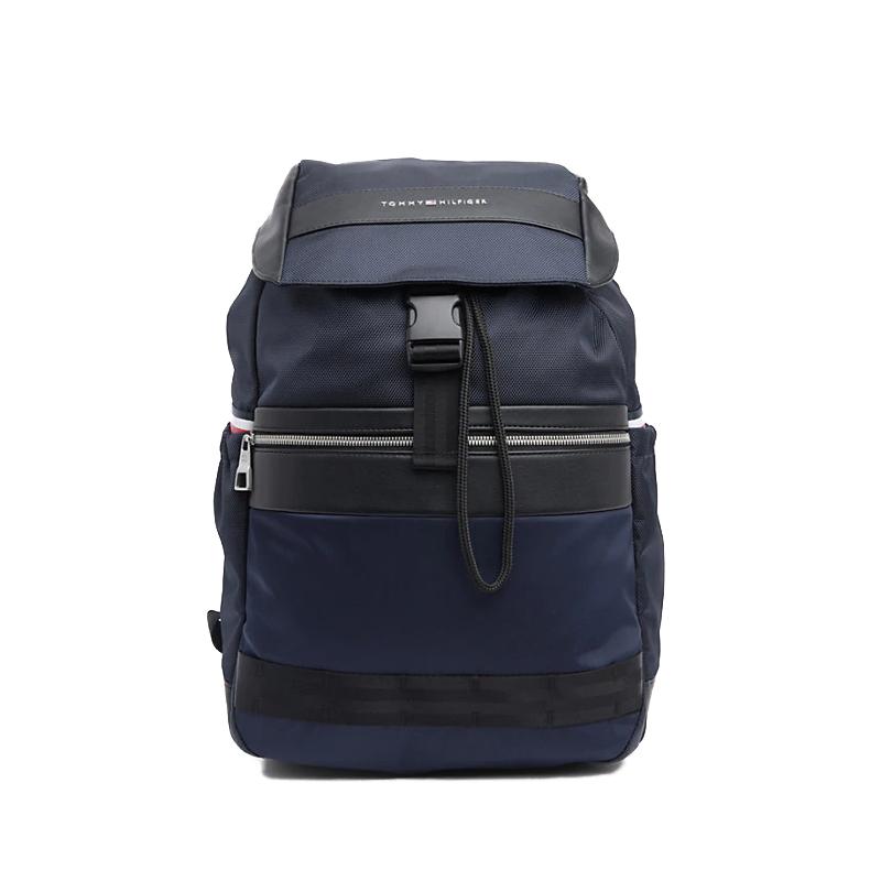 Tommy Hilfiger Nylon Mix Flap Backpack-0